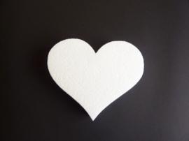tempex hart van 15x13cm breed en 2.5cm dik voor bv muurdecoratie
