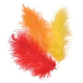 006619/0910- 15 stuks verenmix maraboe oranje van 10cm