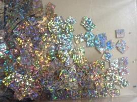 118372/453- 10gram vierkanten pailletten van 8x8mm in glitter zilver (grote hoeveelheid!)