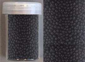 CE801580/4213- 22gram mini pearls van 0.8-1.0mm zwart