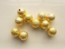 CH.EC226.G- 10 stuks metalen stardust kralen 10mm goudkleur