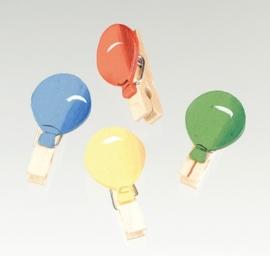 8023 379- 8 stuks houten wasknijpers met ballonnen decoratie van 3.5cm
