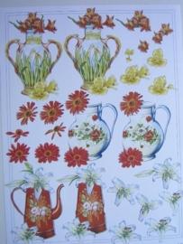 kn/504- A4 knipvel AANBIEDING Tini bloemen IT481