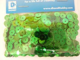 350006/024 - 10 gram pailletten 6 mm. plat groen