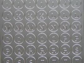 309- letters zilver 10x20cm