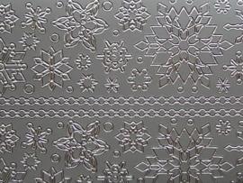 st719- sticker met ijskristallen zilver 10x20cm