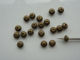 CH.1018- 20 stuks metalen spacers kralen van 5mm geelbrons - SUPERLAGE PRIJS!