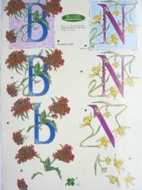 """kn/786- A4 3D knipvel klaver vier """"letters B + N"""" OPRUIMING"""