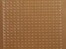282- randje koperkleur 10x20cm