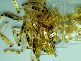 26 mm. - 100 stuks broche speldjes goudkleur met veiligheids sluiting