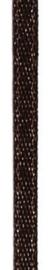 006302/0259- 4.5 meter satijnlint van 10mm breed op een rol donkerbruin
