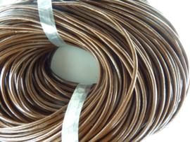 5 meter leren veter van 3 mm. dik licht bruin