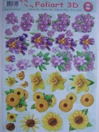 kn/445- A4 knipvel AANBIEDING foli art no.558 bloemen
