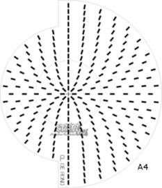CE115634/9951- Crealies Doilymal cirkel patroonmal voor dies A4