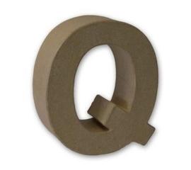 1929 3117- stevige decoratie letter van papier mache - 3D letter Q