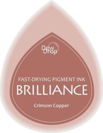 132019/1097- brilliance stempelkussen dew drops copper crimson 3.5x5cm
