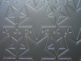 371- ster zilver 20x20cm dubbel formaat