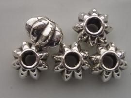 metalen kralen verzilverd 117465/0639