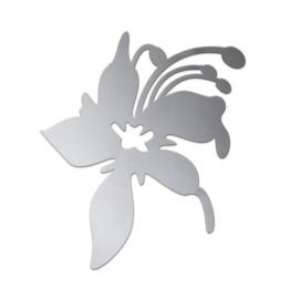 80002 733- RVS ornament bloem zelfklevend van 15cm