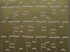 st340- puzzelstukjes goud 10x20cm