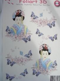 kn/557- A4 knipvel AANBIEDING foli art no.614 japans/indonesisch