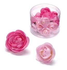 6529 638- 20 stuks decoratie bloemen boterbloemen van 2.5 tot 3cm roze