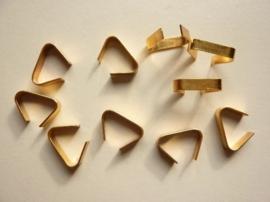 000115- 10 stuks koordbeugels van 3.5x16mm goudkleur OPRUIMING