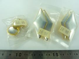 SLK.130.K- 3 paar oorstekers OPRUIMING