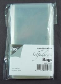 JOY8001/0358- 100 stuks kaartenzakjes zelfklevend 60x80mm