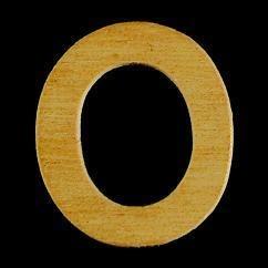 8735 634- 4cm houten cijfer 0