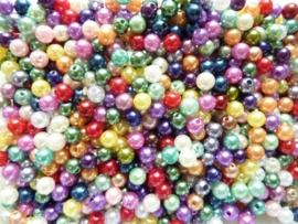 CH.80- 500gram kunststof parels van 8mm kleurenmix - ca 2000 stuks! - SUPERLAGE PRIJS!