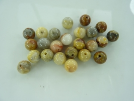 3275- 25 stuks naturel agaat kralen 8mm gemstone