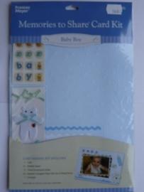5684- Francis Meyer babyboy kaartenmaak kit met diverse accessoires OPRUIMING