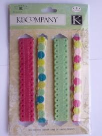 5679- K&Co 4 soorten ribbon/lint elk van 61cm lang