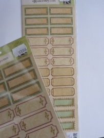 5756- K&Co embossed stickers labels OPRUIMING