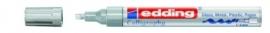 CE390755/0054- Edding-755 kalligrafie glanslak marker punt 1-4mm zilver