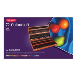 CE325006/0172- Derwent coloursoft pencil 72st in houten doos