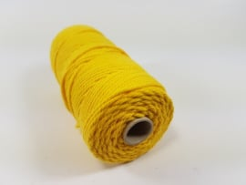 CE890030/3204- 43 mtr katoen macramé touw spoel 2mm 100grs - geel