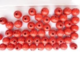6030 165- 50 stuks A-kwaliteit houten kralen van 10mm karmijn rood
