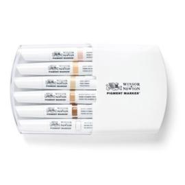 JOY-C0290045- Winsor Newton pigment marker set - 6 stuks huidskleuren