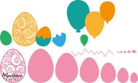 CE115638/1425- Marianne Design collectables eieren/ballonnen 15x21cm