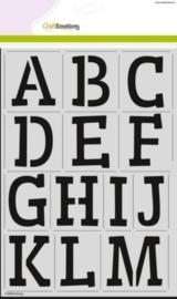 185070/2202- stencil alfabet 2xA4