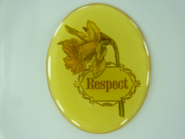 "SLK.204.B - transparante zelfklevende badge ""RESPECT"""