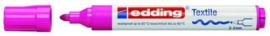 CE394500/0069- edding-4500 textielmarker 2-3mm punt neon roze