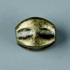 metalen kraal antiek goud 23x17mm 117465/2650