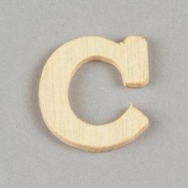 006887/1228- 2cm houten letter C