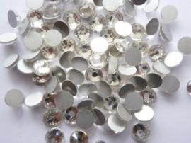 000640- ruim 50 kristalsteentjes SS30 6.4mm crystal zilver - SUPERLAGE PRIJS!
