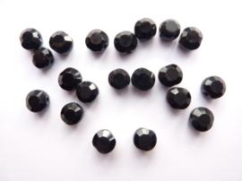 1256- 20 stuks geslepen glaskralen van 5x4mm zwart