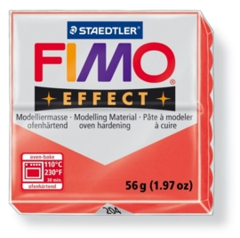 CE610303/6204- fimo effect 56gr transparant rood -204
