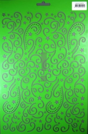 JOY6002/0904- Joy! crafts embossing achtergrondstencil template A4 formaat krullen